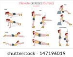 a collection of strength... | Shutterstock .eps vector #147196019