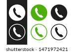 telephone icons set on white...