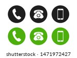 phone icon. call icon vector.... | Shutterstock .eps vector #1471972427
