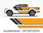 truck decal wrap design vector. ... | Shutterstock .eps vector #1471972574