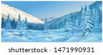 winter mountain landscape with... | Shutterstock .eps vector #1471990931