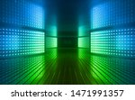 3d render  blue green neon... | Shutterstock . vector #1471991357