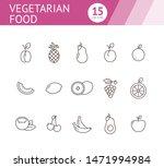 vegetarian food icons. set of...   Shutterstock .eps vector #1471994984