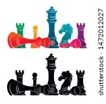 chess colorful figures pieces... | Shutterstock .eps vector #1472012027
