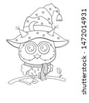 halloween coloring book page... | Shutterstock .eps vector #1472014931