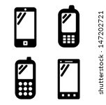 mobile phone icons | Shutterstock .eps vector #147202721