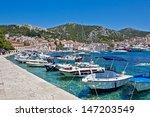 european city scape. bay  boat  ...   Shutterstock . vector #147203549