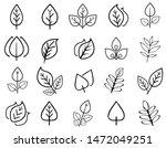 leaf line icon collection  leaf ... | Shutterstock .eps vector #1472049251