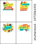 exclusive product discounts set ... | Shutterstock . vector #1472061431