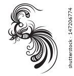 black graphic bird  | Shutterstock .eps vector #147206774