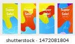 sale banners for social media... | Shutterstock .eps vector #1472081804