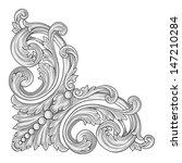 decoration corner vector | Shutterstock .eps vector #147210284