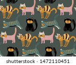 vector seamless pattern with... | Shutterstock .eps vector #1472110451