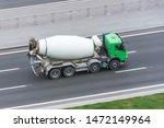 truck with concrete mixer truck ... | Shutterstock . vector #1472149964
