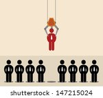 vector cartoon of red man icon... | Shutterstock .eps vector #147215024