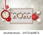 merry christmas and new year... | Shutterstock .eps vector #1472164871