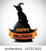 happy halloween icon design... | Shutterstock .eps vector #147217631