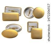 vector. mock up. set badge pin... | Shutterstock .eps vector #1472206517
