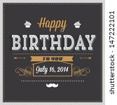 birthday card | Shutterstock .eps vector #147222101