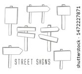 street signs outlined... | Shutterstock .eps vector #1472227871