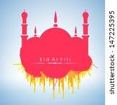 muslim community festival eid... | Shutterstock .eps vector #147225395