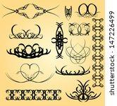 set of calligraphic symbols for ... | Shutterstock .eps vector #147226499