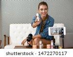 caucasian makeup artist... | Shutterstock . vector #1472270117