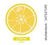 Lemon fruits vector illustration