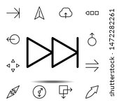 arrow  next icon. simple thin...