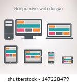 responsive web design | Shutterstock .eps vector #147228479
