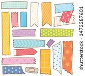 washi tape doodle isolated on... | Shutterstock .eps vector #1472287601