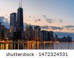 Chicago Cityscape River Side A...