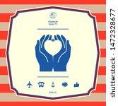 hands holding heart  ... | Shutterstock .eps vector #1472328677