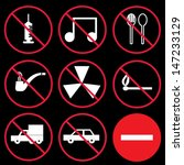 prohibition signs  set | Shutterstock .eps vector #147233129