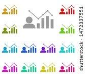 chart  data multi color icon....