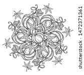 black and white autumn ornament.... | Shutterstock .eps vector #1472371361