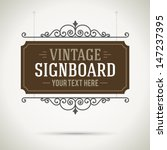 Vintage Signboard Outdoor...