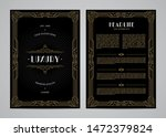 vintage invitation in art deco. ... | Shutterstock .eps vector #1472379824