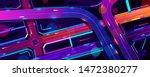 transport interchange in night... | Shutterstock .eps vector #1472380277