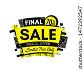 yellow final sale banner with...   Shutterstock .eps vector #1472392547