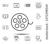 cinema tape icon. simple thin...