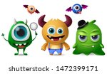 cute monsters vector character... | Shutterstock .eps vector #1472399171
