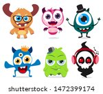 cute little monsters set vector ... | Shutterstock .eps vector #1472399174