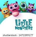 cute little monster characters... | Shutterstock .eps vector #1472399177
