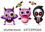 monster vector characters set.... | Shutterstock .eps vector #1472399204