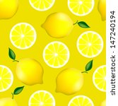 seamless pattern with lemons on ... | Shutterstock .eps vector #147240194