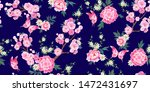 spring seamless pattern with...   Shutterstock .eps vector #1472431697