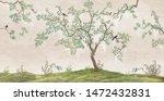Flowering Tree In The Japanese...