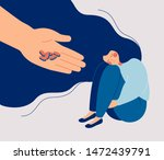 antidepressant saving woman... | Shutterstock .eps vector #1472439791