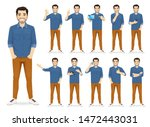 Man In Casual Outfit Set With...